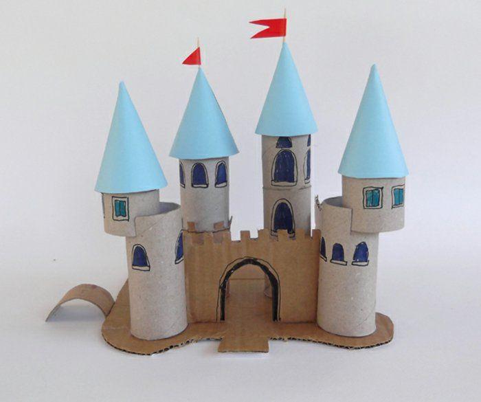 recycler le rouleau de papier toilette ou d'essuie-tout, château de princesse astucieux