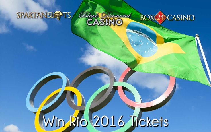 Win 2 tickets to the Rio 2016 Olympic Games!  Get down to Black Diamond Casino, Spartan Slots Casino, or Box 24 Casino now.  --  #OnlineCasino #Olympics #Rio2016 #Win