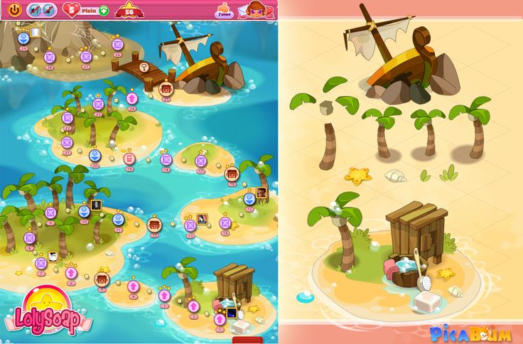 LolySoap is a match 3 game which I was in charge of art direction for Picaboum Studio. It came out on Facebook, IOS and Android. Following the company's closure, the game is no longer available for Facebook.