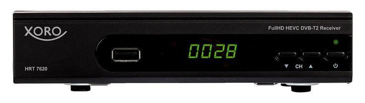 Für größere Ansicht Maus über das Bild ziehen Xoro HRT 7620 FullHD HEVC DVBT/T2 Receiver (HDTV, HDMI, SCART, Mediaplayer, PVR Ready, USB 2.0, LAN) schwarz [Energieklasse A+++ to D]