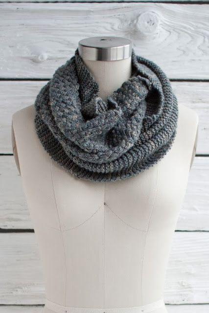Infinity Scarf Knitting Pattern Garter Stitch : NobleKnits Knitting Blog: Manos Fino: Cesta Cowl Free ...