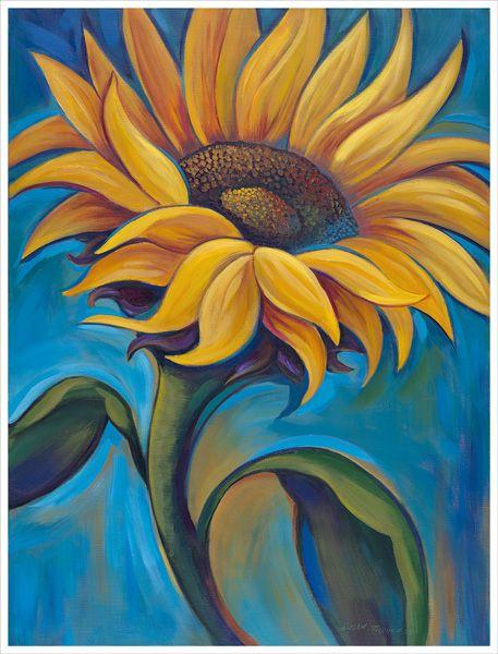 Sunflower Painting by Susan Tolonen, susantolonen.com