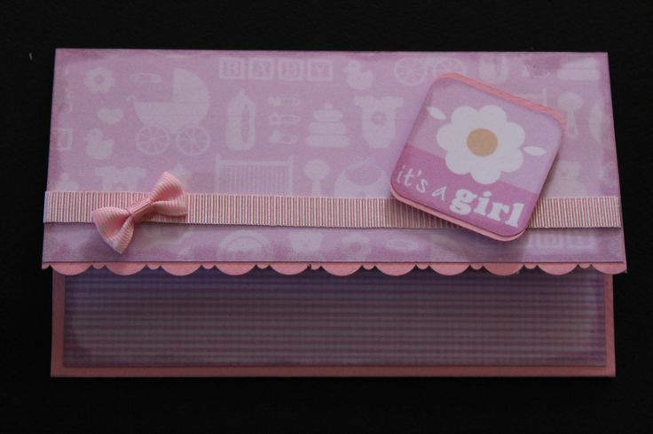 Envelope / money holder-baby girl Lluvia de sobres para bebé-niña