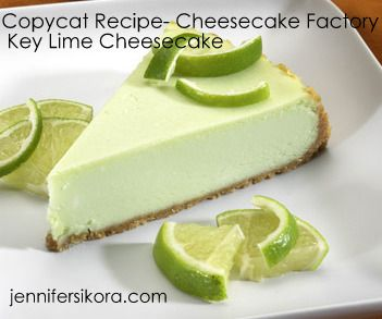 Cheesecake Factory Copycat recipe for Key Lime Cheesecake