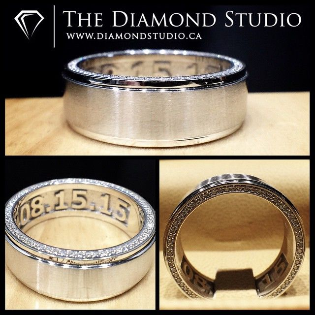 80 best His Band images on Pinterest Wedding bands Diamond ice