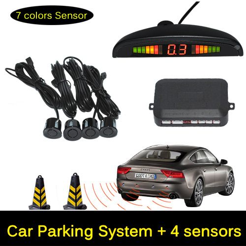 12V LED Car Parking Sensor Monitor Auto Reverse Backup Radar Detector System   LED Display   4 Sensors   Black   Silver -- Locate the offer simply by clicking the VISIT button