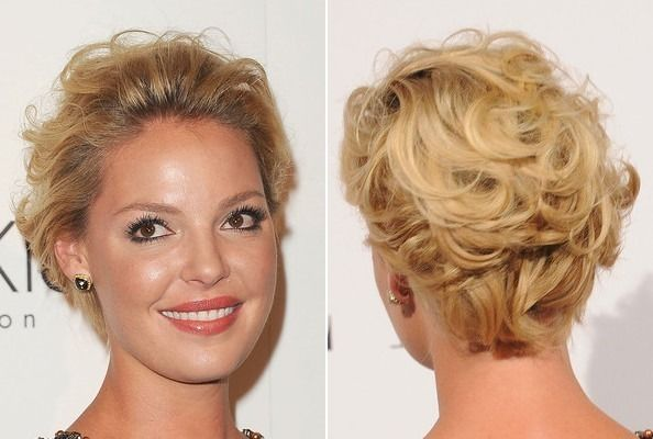 S Curl Hairstyles For Short Hair: Katherine Heigl's Short And Curly 'Do In 2019