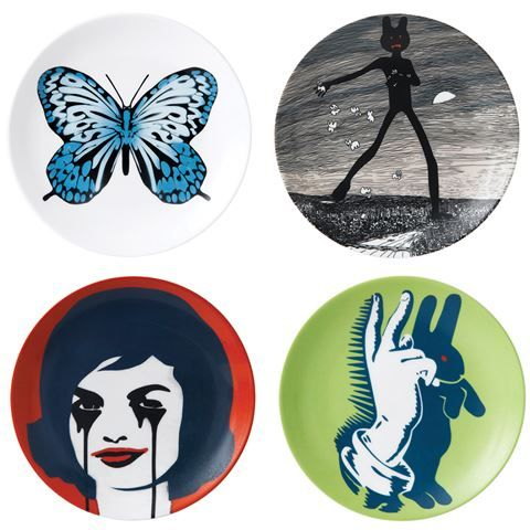Royal Doulton - Street Art Pure Evil Plate Set 4pce | Peter's of Kensington