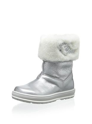 76% OFF Ciao Bimbi Kid's Sheepskin Cuffed Boot (Silver)