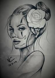 Afbeeldingsresultaat voor chicano girl clown drawing