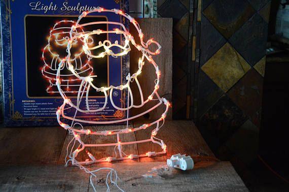 Retro Christmas Lights Window Decor Christmas Mid Century