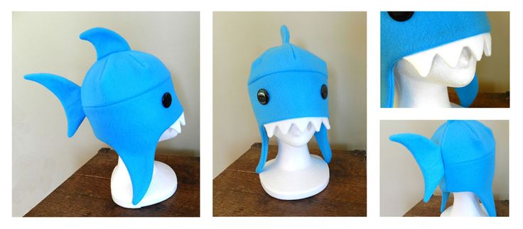 The shark was the second hat I made. The idea was to make a hat that looked like it was eating your head. The shark just fit so well in the role. I think I'd also like to make a similar hat using a...