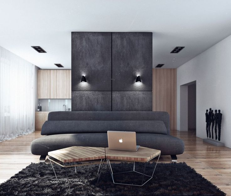 """LCD """"Moscow"""" Bachelor Apartment by Angelina Alexeeva 