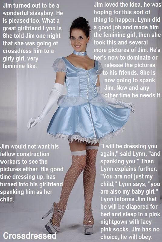 Apron domination dressing female maid sissy hot!