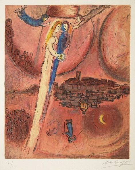Marc Chagall, Le Cantique des Cantiques (The Song of Songs) on ArtStack #marc-chagall #art