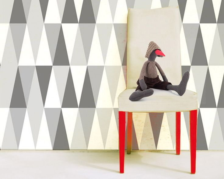 heksagons, wallpaper by Humpty Dumpty Room Decoration, HDRD, interior design by Fajnodesign.by