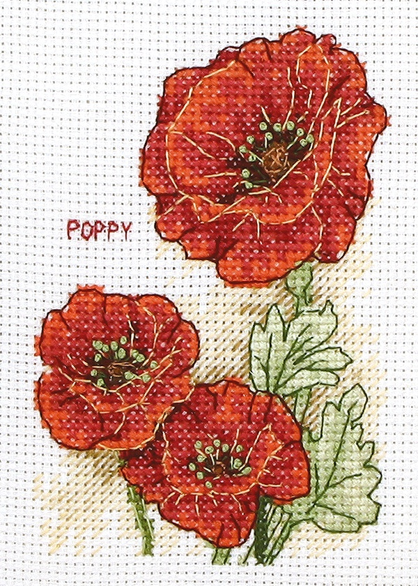 Poppies, from Anchor/Coats.