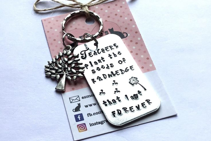Teacher gift, TA gift, End of year gift, Hand stamped, Thank you gift, Gift for Her, Gift for him, UK seller, by EBMetalStampingCraft on Etsy https://www.etsy.com/uk/listing/524725590/teacher-gift-ta-gift-end-of-year-gift