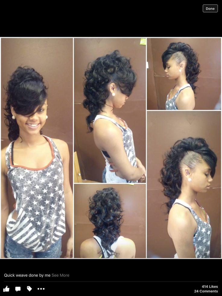 Hairstyles For Black Permed Hair Medium Length : Best 25 black hair mohawk ideas on pinterest braid