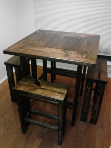 this would brought cute in that small spot in our new kitchen rustic kitchen tablessmall dining - Dining Kitchen Table