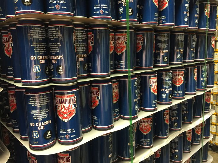 The Champions Light beer cans - an exclusive beer made by Kichesippi and Clocktower for the Ottawa Champions Baseball Club in 2016.