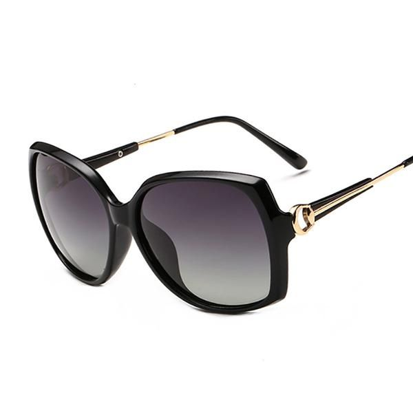 ATTCL Femmes Lunettes De Soleil Oversize Polarized 100% UV Protection 3113 black 3JA0K7SFpQ