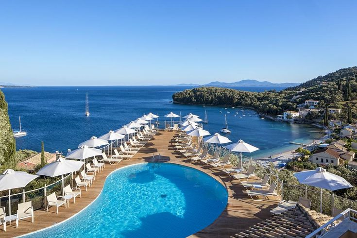 San Antonio Corfu Resort (Adults Only) || Within 20 metres of Kalami Beach, San Antonio Corfu Resort (as of 2017 adults only) is perched on a hillside among olive groves.