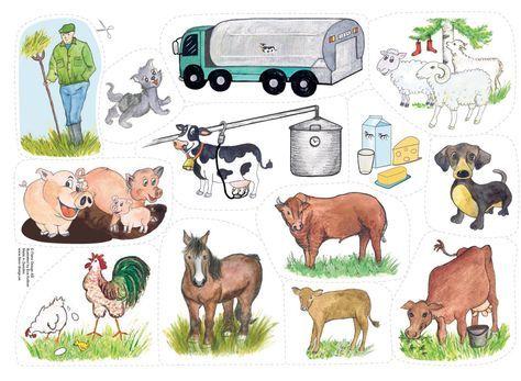 Flanosaga: faktaberättelse om djurfamiljerna. Träffa bonden Alfred och hans djur på gården. Vad heter mamma gris? Vad händer med mjölken? Pedagogiska tips!