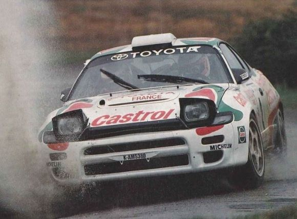 1994 Toyota Celica GT-Four ST185 (chassis TC 357-575) is a Group A WRC car campaigned by Toyota Team Europe. It's said to have been piloted by several notable drivers including Juha Kankkunen, who in addition to winning 1993's driver's title, also played a hand in a manufacturer's championship the same year.