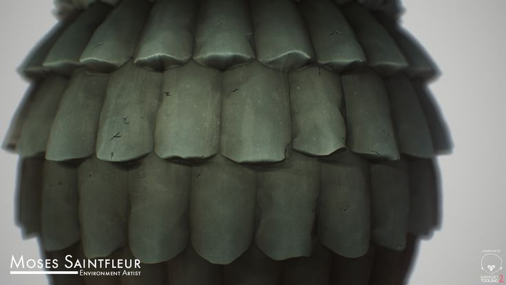ArtStation - Roof Shingles, Moses Saintfleur