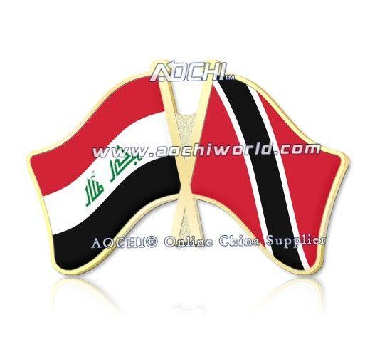 Mix Матча Лучший Продавая Высокое Качество Ирак И Тринидад И Тобаго Скрещенные Штыри Отворотом Флагов