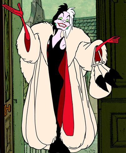 I'm descended from Cruella De Vil  OMG just realized, De Vil=Devil