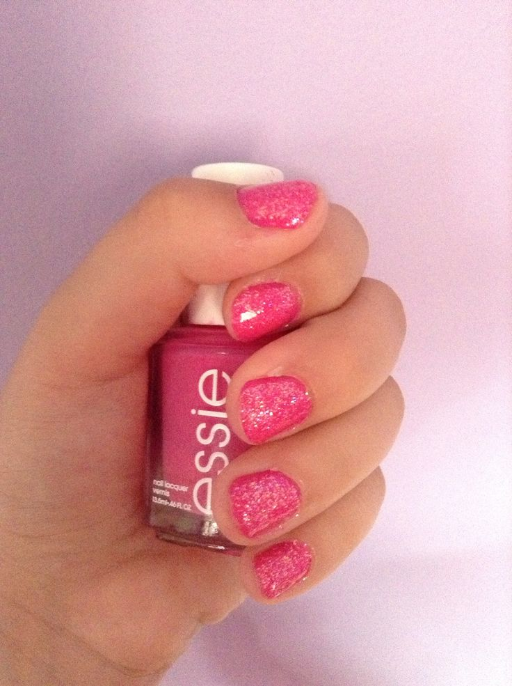 My nails! Essie mod square, the glitter is just a hot pink from essence and go!