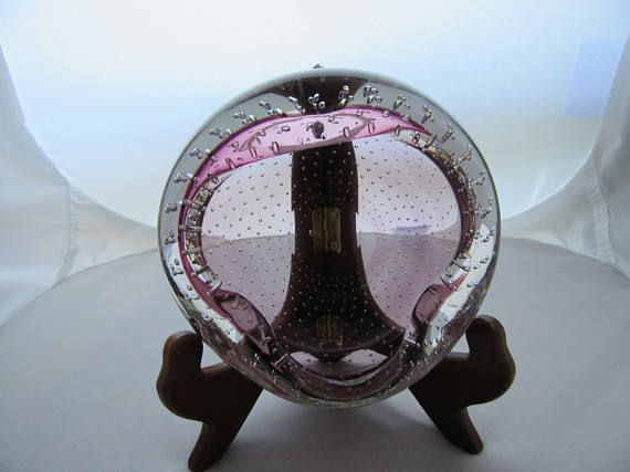 Vintage Purple Venetian Glass Hand Blown  Bubble Murano Candy