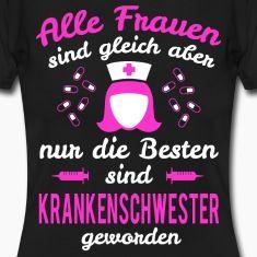 Krankenschwester Frauen T-Shirt – Schwarz
