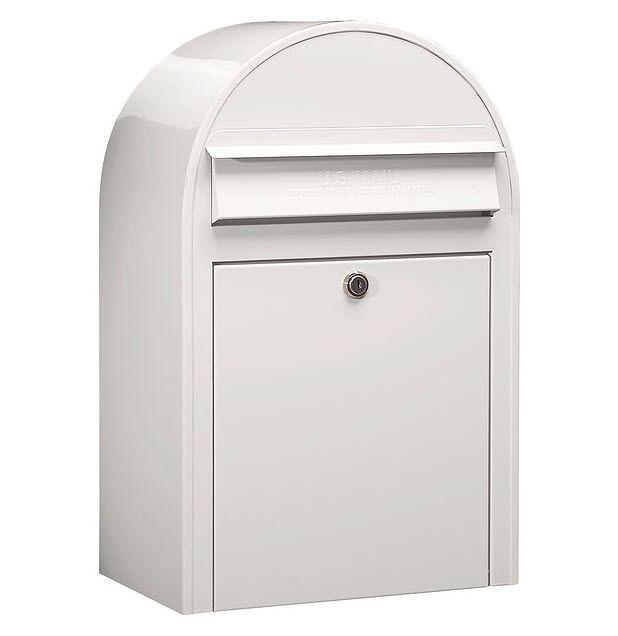USPS Bobi Classic White Front Access Lockable Mailbox