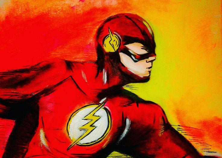 #flash #comics #dc # acrylic