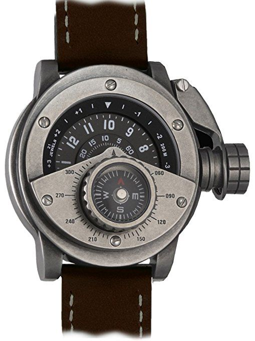 "Reloj automático retrowerk "" MIY-8215 pulgada - Reloj con apego brújula R016-BR"