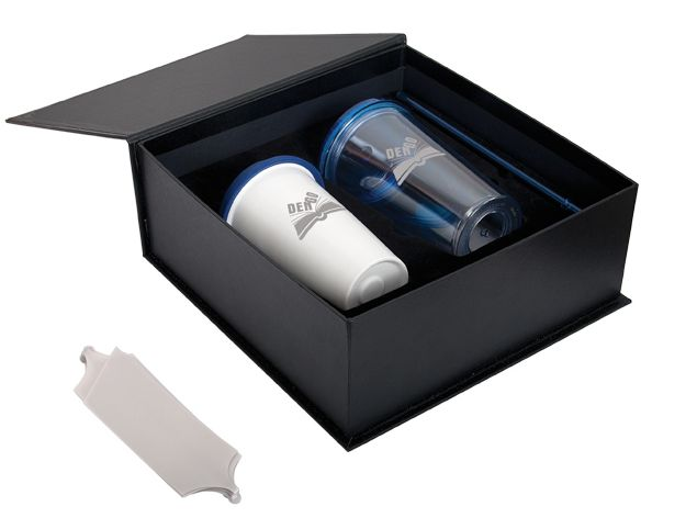 Looking for a great last minute gift idea? These hot and cold tumblers come already packaged in an elegant black box with a silver ribbon.