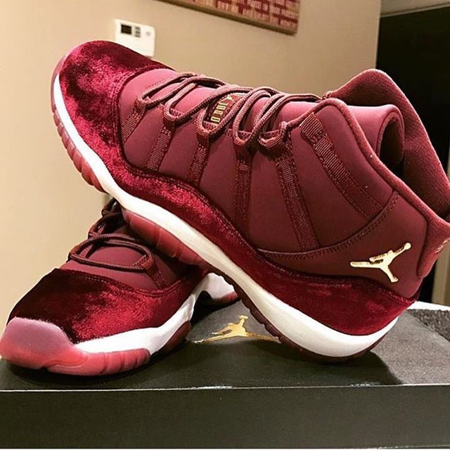 big sale c8ee7 de4e0 girls jordan retro 11 maroon