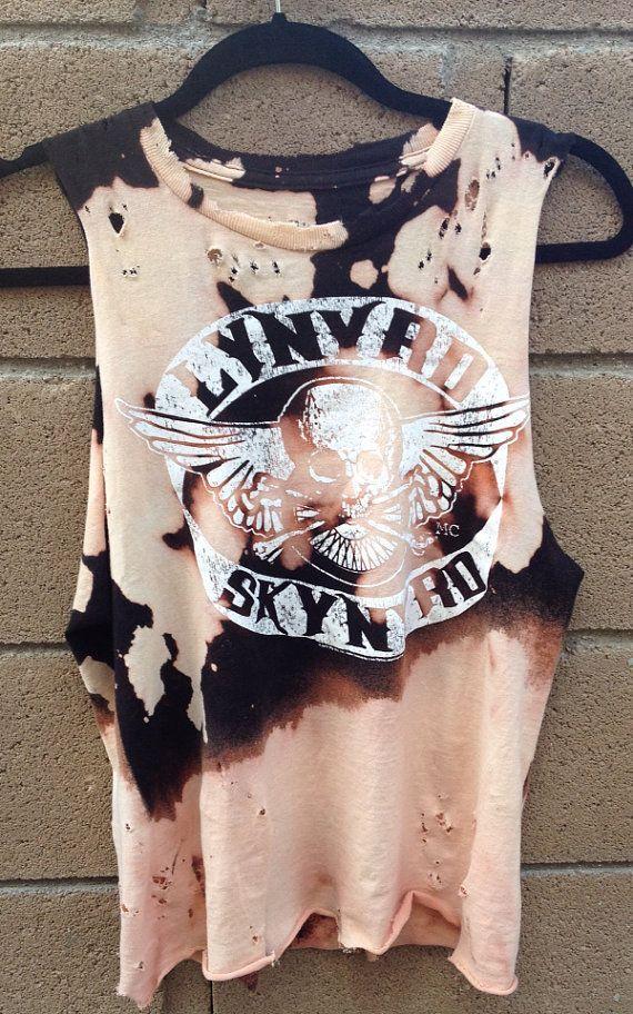 Lynyrd Skynyrd tshirt rock rocker tee reworked by WORNnTORN