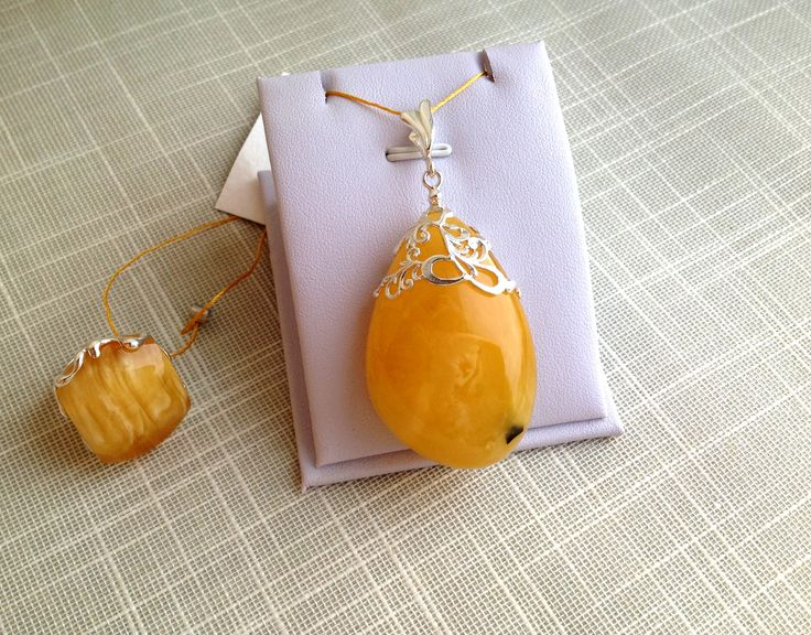 Luxurious amber pendant, royal amber jewelry, sterling silver, unique amber bead, natural Baltic amber, yellow massive amber pendant, amber by AmberFromBaltic on Etsy