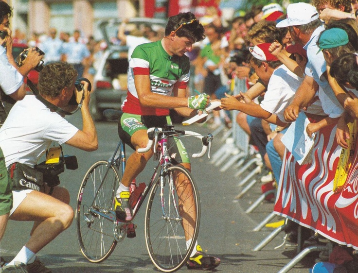 Bugno flying the Italian Champ colours