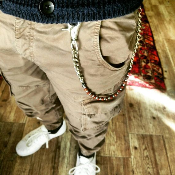 Catena da tasca per pantaloni da uomo con pietre di di Gioiellidi