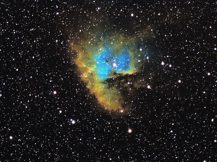 Pacman Nebula (NGC281) by Mattia Brunetta recorded with AIRY APO65F and SXV-H9 CCD camera.