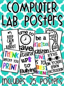 25 Computer Lab Posters