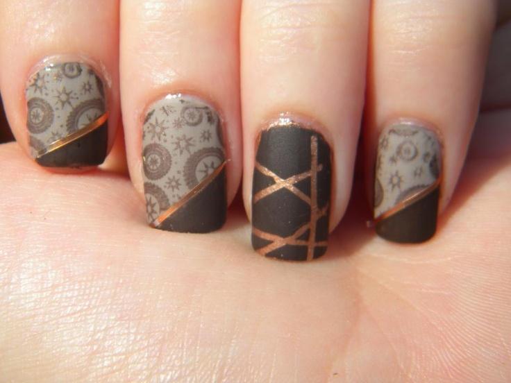 Steampunk Nails :D