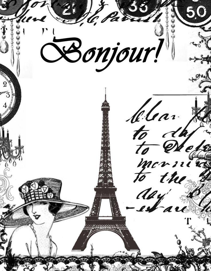 Картинки в стиле париж черно белые