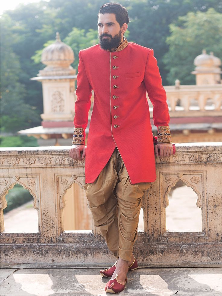 Terry Rayon Red Indo Western.  Price and Queries Whatsapp - +91-9913433322 g3fashion.com #menwear #ethnicwear #menethnicwear #kurta #menkurta #menkurtapyjama #Sherwani #indiankurtapyjama #instalike #instalove #follow4follow