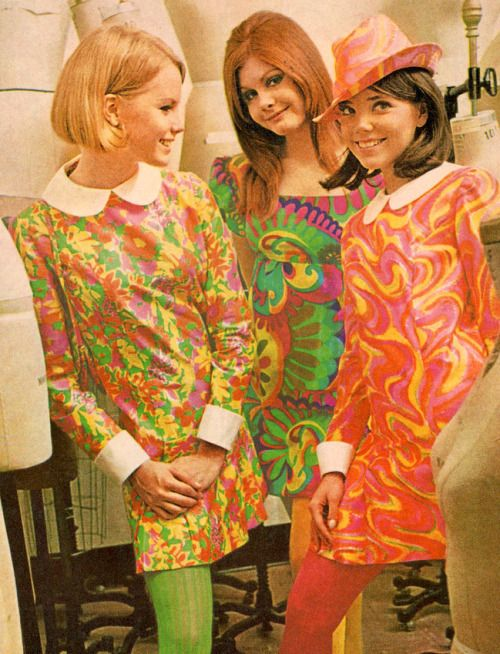 "Dresses in ""Livid-Up Colors,"" 'Teen Magazine, 1968"